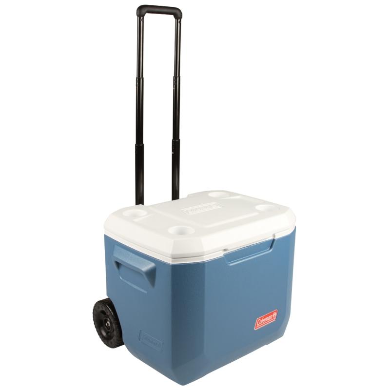 Coleman 50qt xtreme wheeled cooler for Motor cooler on wheels