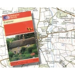 Ordnance Survey Cheviots Hills OS Explorer Map Waterproof by Aqua3