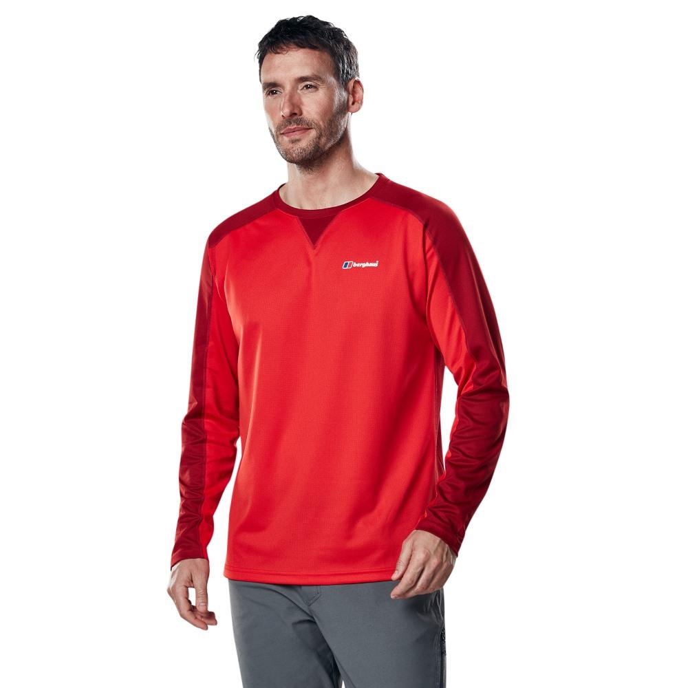 Berghaus Men/'s Tech 2.0 Zip Neck Longsleeve T-Shirt
