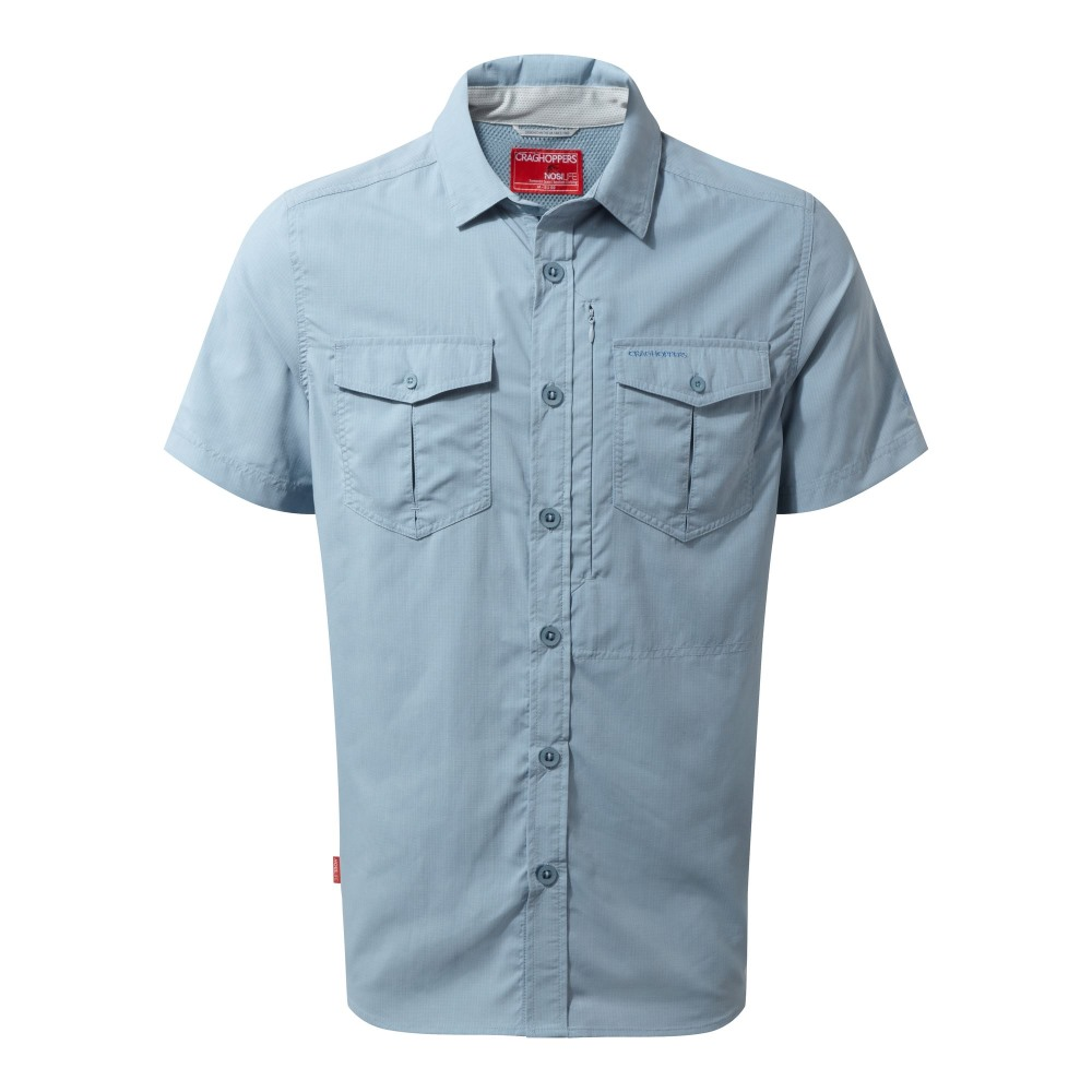 Craghoppers Mens NosiLife Adventure Lightweight Short Sleeved Shirt-Burnt Whisky