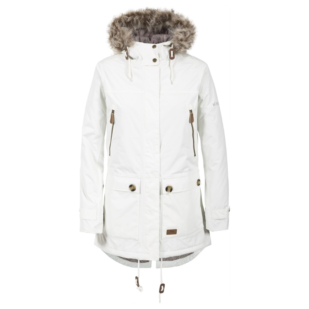 Trespass Phyllis Long Womens Down Jacket Hooded Warm Parka Coat