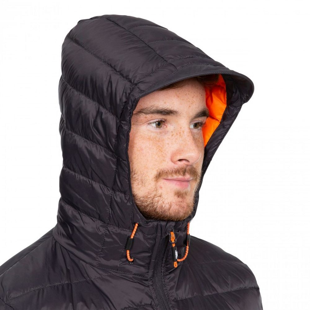 Trespass Mens Digby Packable Hooded Full Zip Down Jacket