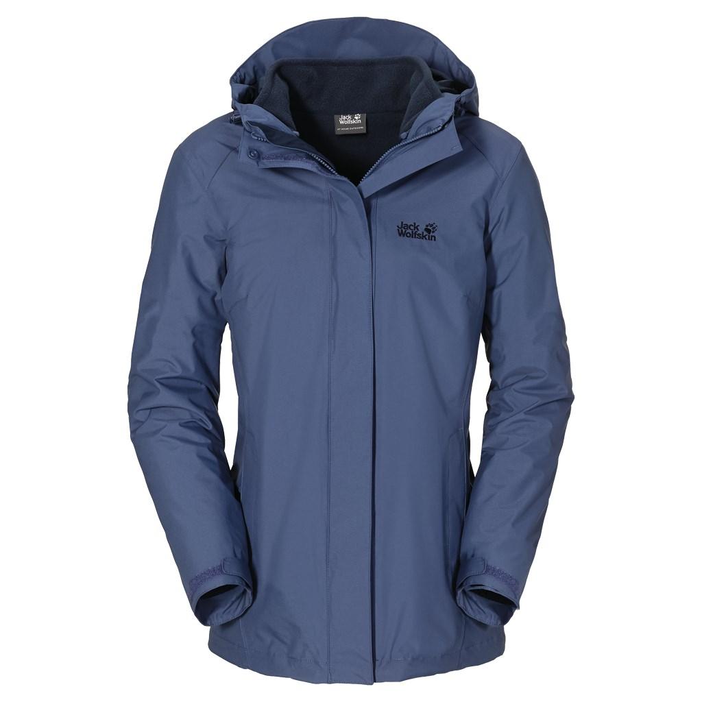 jack wolfskin womens iceland 3 in 1 waterproof jacket. Black Bedroom Furniture Sets. Home Design Ideas